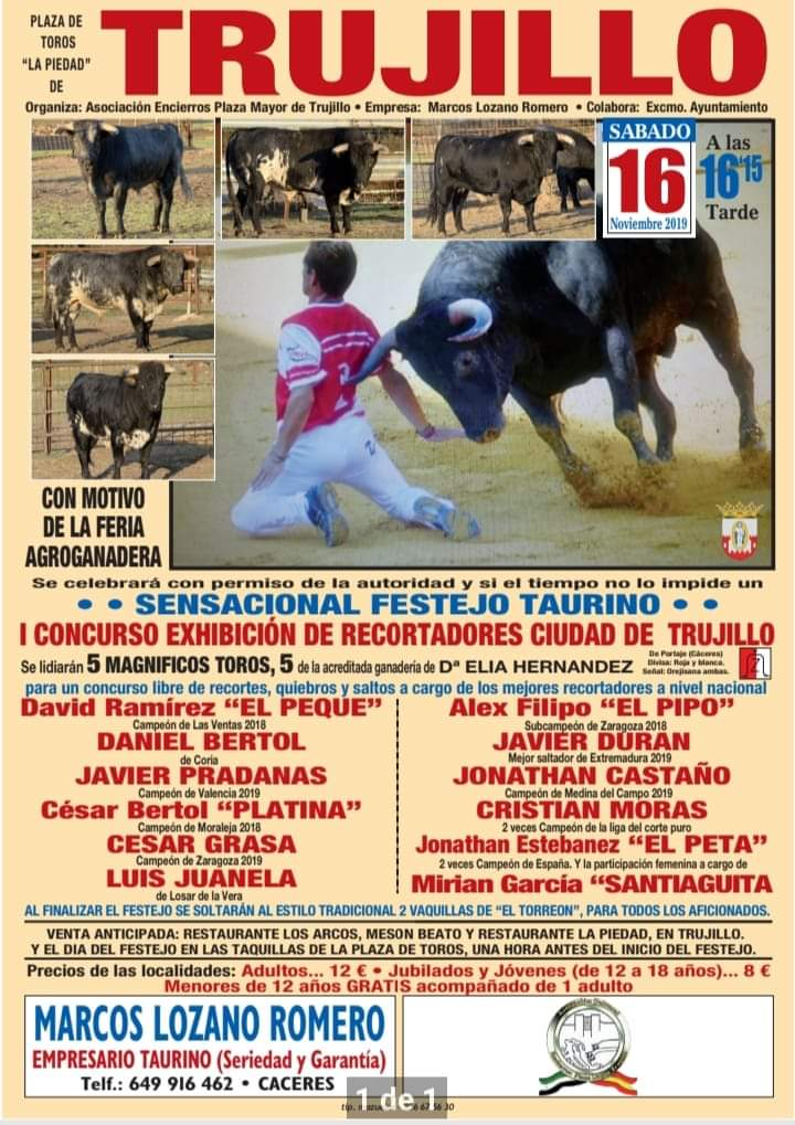 Festejos taurinos en Trujillo