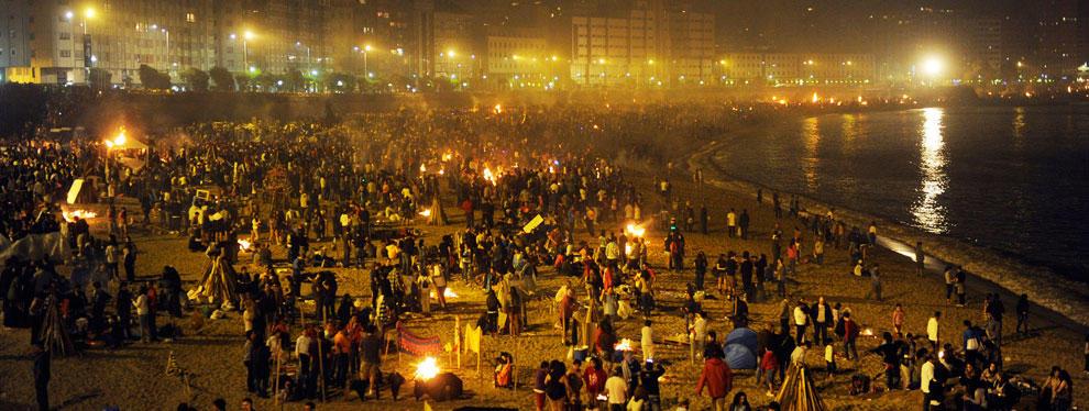 programa Hogueras de San Juan en A Coruña