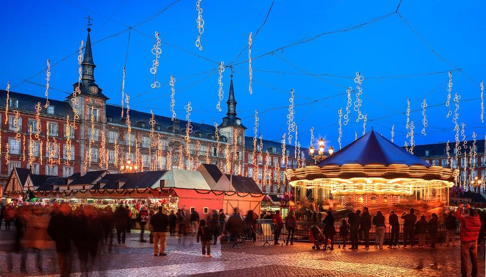 Fiesta de Navidad en Madrid