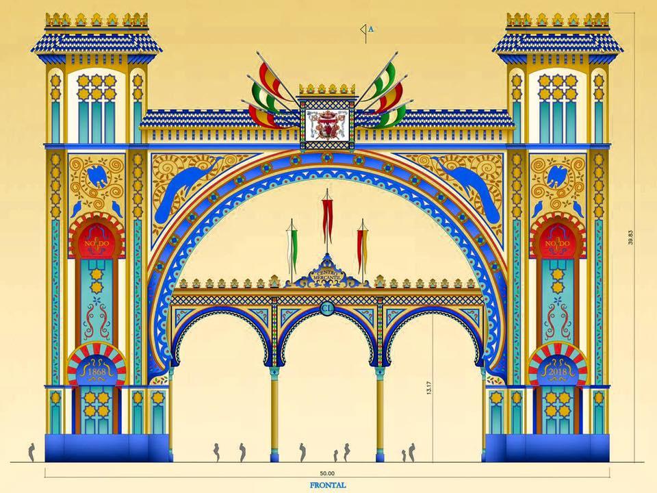 Dibujo Portada Feria de Sevilla 2018